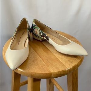 Sacha London Handmade In Spain White Leather Flats